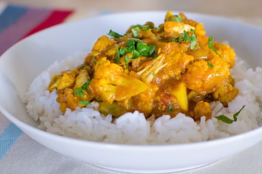 Curry Cauliflower Chicken Recipe Provided by Vancouver Chiropractor